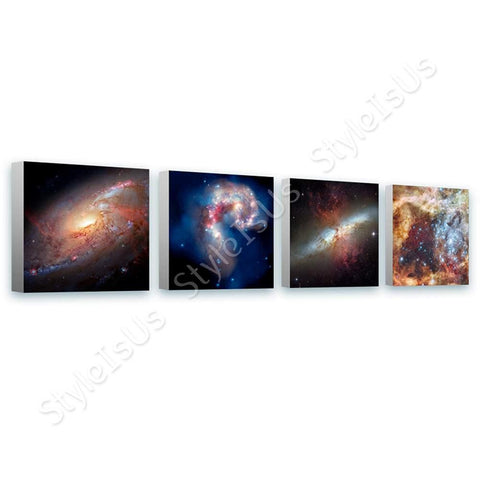 Space Galaxy Nasa stars hubble astronomy Set Of 4 | Canvas, Posters, Prints & Stickers - StyleIsUS.com