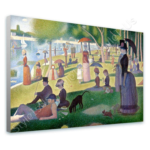 Georges Seurat Sunday Afternoon | Canvas, Posters, Prints & Stickers - StyleIsUS.com