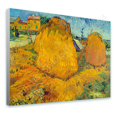 Vincent van Gogh Haystacks in Provence | Canvas, Posters, Prints & Stickers - StyleIsUS.com