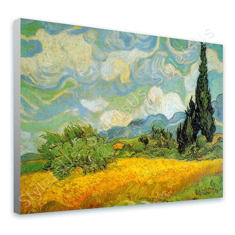 Vincent van Gogh Wheatfield With Cypresses | Canvas, Posters, Prints & Stickers - StyleIsUS.com