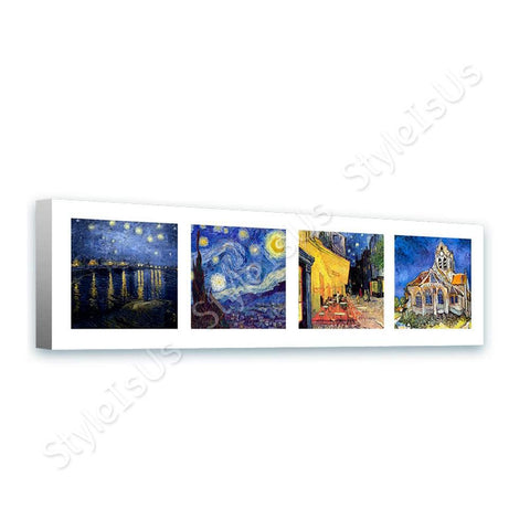 Vincent van Gogh Collage 4 starry night rhone church cafe | Canvas, Posters, Prints & Stickers - StyleIsUS.com