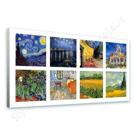 Vincent van Gogh Collage 8 cafe church room starry night | Canvas, Posters, Prints & Stickers - StyleIsUS.com
