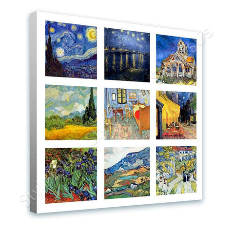 Vincent van Gogh Collage 9 cafe starry night church room alpes | Canvas, Posters, Prints & Stickers - StyleIsUS.com