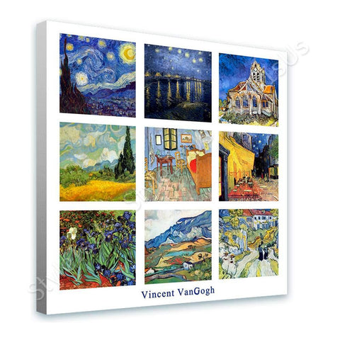 Vincent van Gogh Collage 9 cafe church starry night rhone | Canvas, Posters, Prints & Stickers - StyleIsUS.com