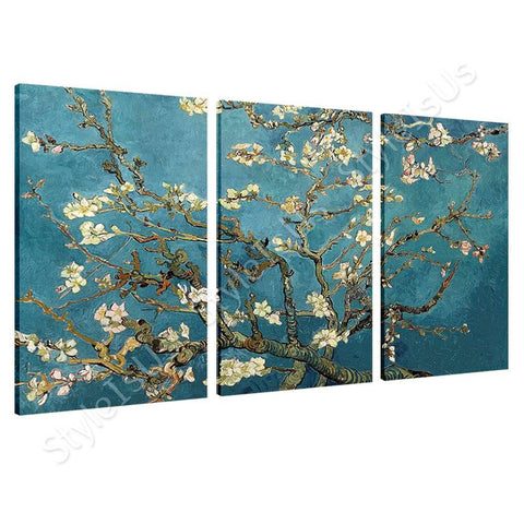 Vincent van Gogh Blossoming Almond Tree 3 Panels | Canvas, Posters, Prints & Stickers - StyleIsUS.com