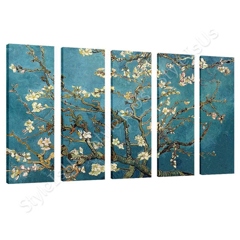 Vincent van Gogh Blossoming Almond Tree 5 Panels | Canvas, Posters, Prints & Stickers - StyleIsUS.com