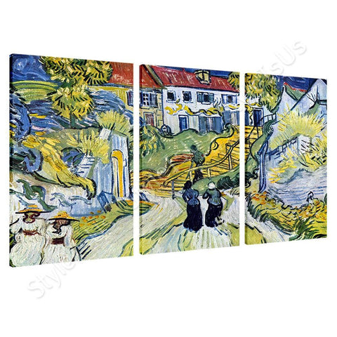Vincent van Gogh Stairway at Auvers 3 Panels | Canvas, Posters, Prints & Stickers - StyleIsUS.com