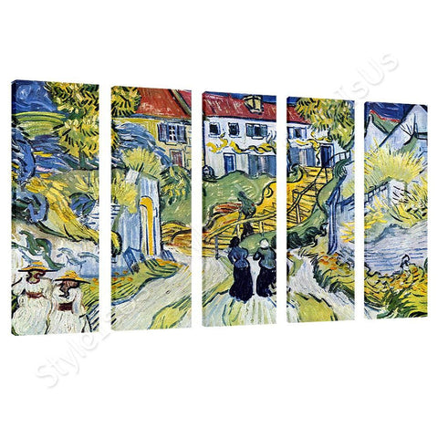 Vincent van Gogh Stairway at Auvers 5 Panels | Canvas, Posters, Prints & Stickers - StyleIsUS.com