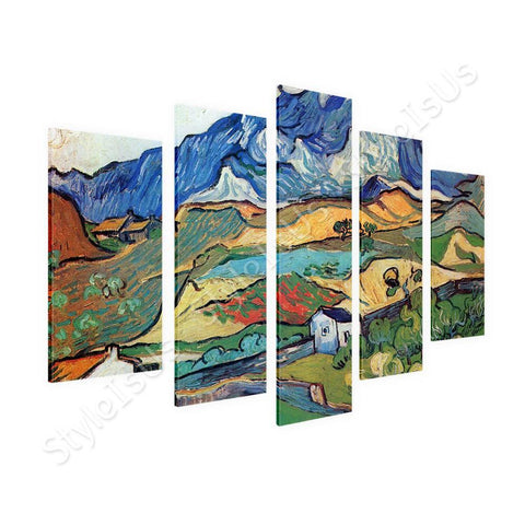 Vincent van Gogh Les Alpilles Alps  5 Panels | Canvas, Posters, Prints & Stickers - StyleIsUS.com