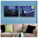 Vincent van Gogh Starry night over rhone Set Of 2 | Canvas, Posters, Prints & Stickers - StyleIsUS.com