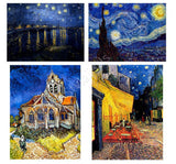 Vincent van Gogh church starry night rhone cafe Set Of 4 | Canvas, Posters, Prints & Stickers - StyleIsUS.com