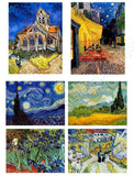 Vincent van Gogh field starry night rhone cafe church Set Of 6 | Canvas, Posters, Prints & Stickers - StyleIsUS.com