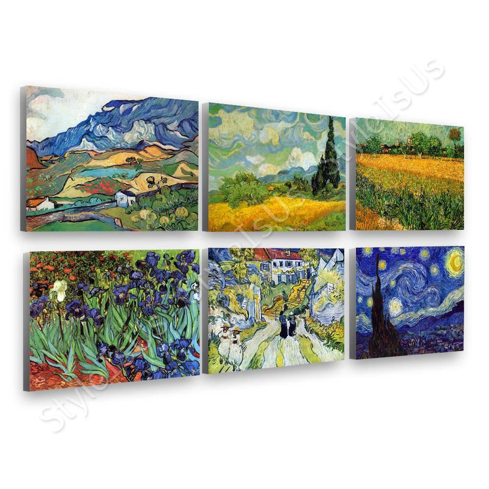 Vincent van Gogh alpes stairs irises starry night Set Of 6 | Canvas, Posters, Prints & Stickers - StyleIsUS.com