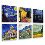 Vincent van Gogh starry night cafe church alpes Set Of 6 | Canvas, Posters, Prints & Stickers - StyleIsUS.com