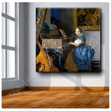 Johannes Vermeer Young Lady | Canvas, Posters, Prints & Stickers - StyleIsUS.com