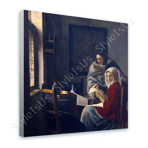 Johannes Vermeer Girl Interrupted | Canvas, Posters, Prints & Stickers - StyleIsUS.com