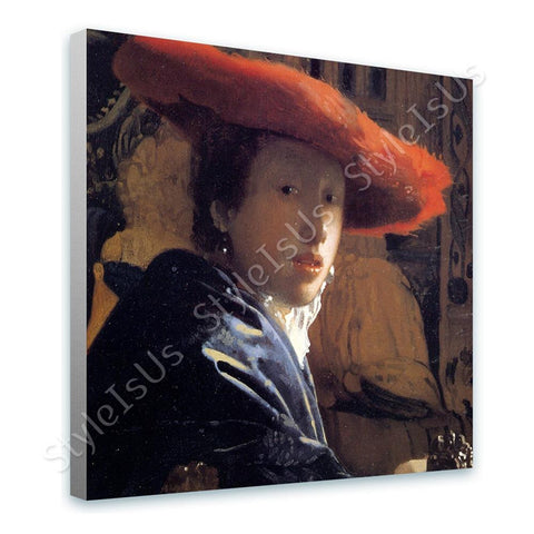 Johannes Vermeer Girl with the red hat | Canvas, Posters, Prints & Stickers - StyleIsUS.com