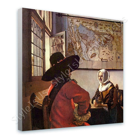 Johannes Vermeer Officer and Laughing Girl | Canvas, Posters, Prints & Stickers - StyleIsUS.com