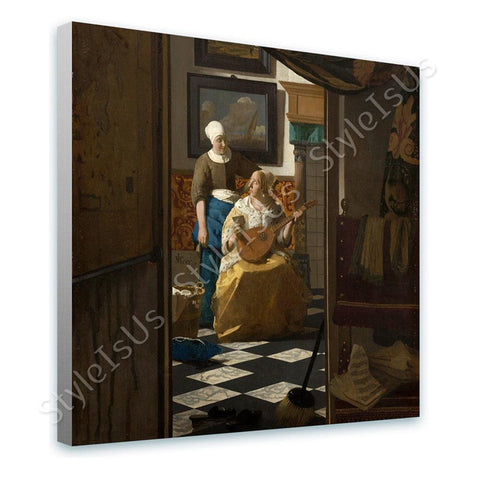 Johannes Vermeer The Love Letter | Canvas, Posters, Prints & Stickers - StyleIsUS.com