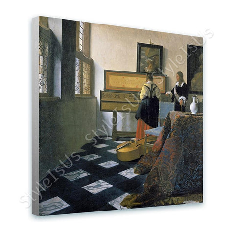 Johannes Vermeer The Music Lesson | Canvas, Posters, Prints & Stickers - StyleIsUS.com