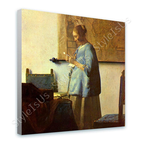Johannes Vermeer Woman reading a letter | Canvas, Posters, Prints & Stickers - StyleIsUS.com