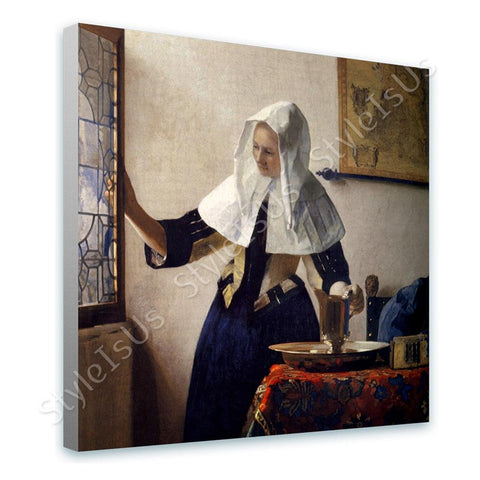 Johannes Vermeer Young Woman with a Water Pitcher | Canvas, Posters, Prints & Stickers - StyleIsUS.com