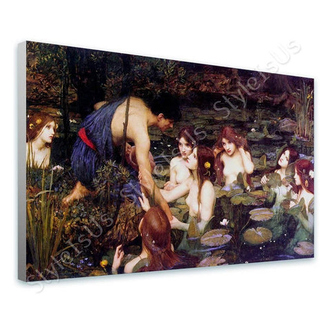 Waterhouse Hylas and the Nymphs | Canvas, Posters, Prints & Stickers - StyleIsUS.com