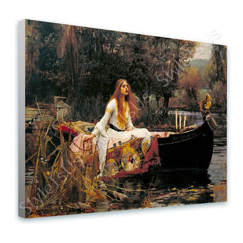 Waterhouse The Lady of Shalott | Canvas, Posters, Prints & Stickers - StyleIsUS.com