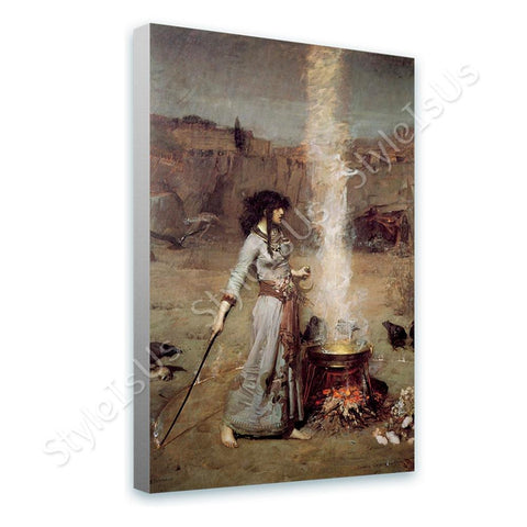 Waterhouse The Magic Circle | Canvas, Posters, Prints & Stickers - StyleIsUS.com