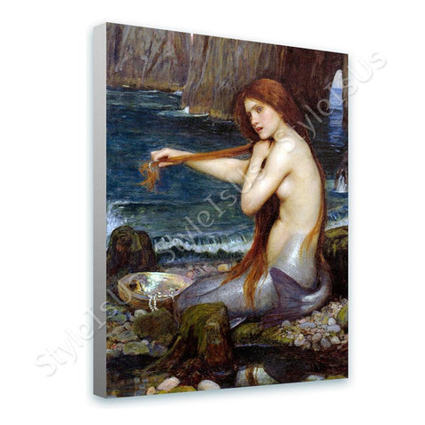 Waterhouse A Mermaid | Canvas, Posters, Prints & Stickers - StyleIsUS.com
