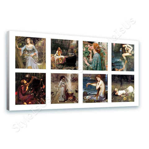 Waterhouse Collage 8 mercy mermaid siren rose | Canvas, Posters, Prints & Stickers - StyleIsUS.com