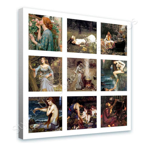 Waterhouse Collage 9 rose ophelia siren hylas | Canvas, Posters, Prints & Stickers - StyleIsUS.com