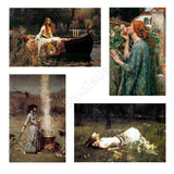 Waterhouse lady shalott ophelia rose smoke Set Of 4 | Canvas, Posters, Prints & Stickers - StyleIsUS.com