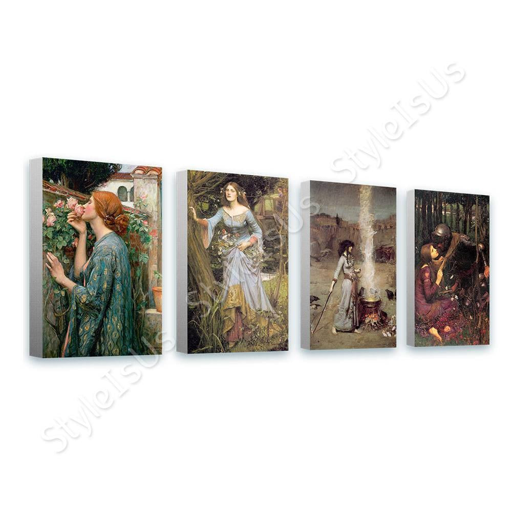 Waterhouse smoke ophelia rose mercy Set Of 4 | Canvas, Posters, Prints & Stickers - StyleIsUS.com