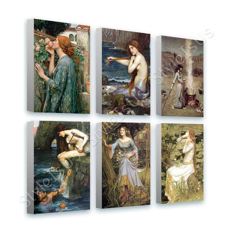 Waterhouse rose mermaid siren ophelia Set Of 6 | Canvas, Posters, Prints & Stickers - StyleIsUS.com