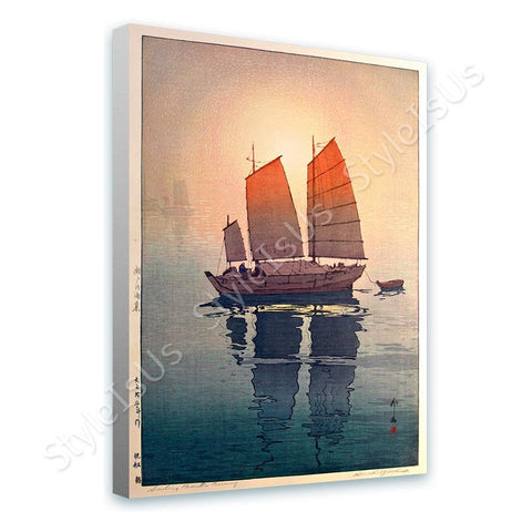Hiroshi Yoshida Sailing Boats | Canvas, Posters, Prints & Stickers - StyleIsUS.com