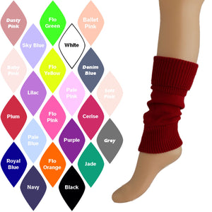 "15"" ACRYLIC ANKLEWARMERS Knitwear Dancers World"