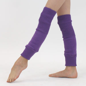 "15"" ACRYLIC ANKLEWARMERS Knitwear Dancers World Purple"
