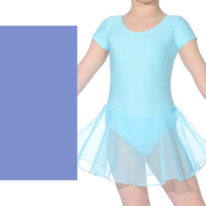 ABBI - ISTD STYLE SHORT SLEEVE SKIRTED LEOTARD Dancewear Dancers World Bluebell 00 (Age 2-4)