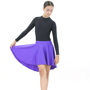 AMY - LONGER TAPERED SKIRT Dancewear Dancers World Purple Small Child