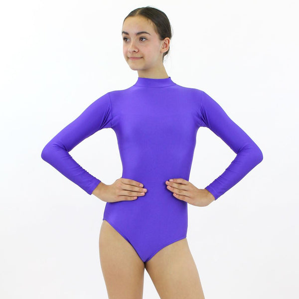 ANNABEL - LONG SLEEVE POLO NECK LEOTARD Dancewear Dancers World