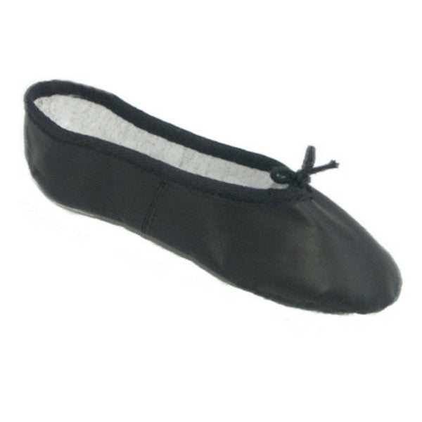 BASIC BLACK LEATHER BALLET SHOES Dance Shoes Dancers World