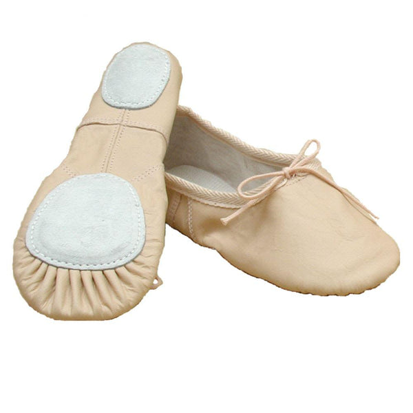 BASIC PINK LEATHER SPLIT SOLE BALLET SHOES Dance Shoes Dancers World Junior 13.5