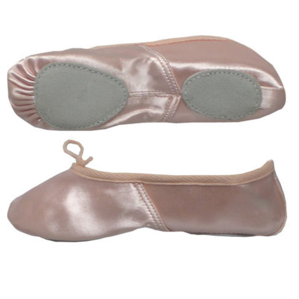 BASIC PINK SATIN SPLIT SOLE BALLET SHOES Dance Shoes Dancers World