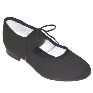 BLACK CANVAS LOW HEEL TAP SHOES Dance Shoes Dancers World