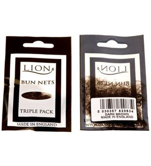 BUN NETS - PACK OF 3 Accessories Lion Dark Brown