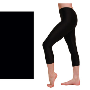 CAPRI - CALF LENGTH LEGGINGS Dancewear Dancers World Black 00 (Age 2-4)