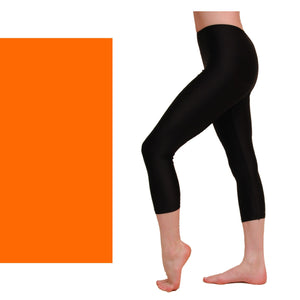 CAPRI - CALF LENGTH LEGGINGS Dancewear Dancers World Fluorescent Orange 00 (Age 2-4)