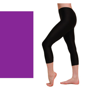 CAPRI - CALF LENGTH LEGGINGS Dancewear Dancers World Purple 00 (Age 2-4)