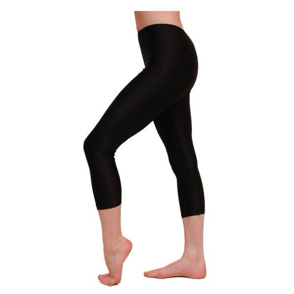CCAPRI - BLACK COTTON LYCRA CAPRI LEGGINGS/TIGHTS Dancewear Dancers World